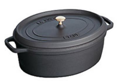 Staub 1103325 Oval La Cocotte w/ 7-qt Capacity & Enamel Coated Cast Iron, Black Matte