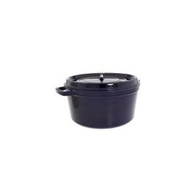Staub 1103491 Round Cocotte w/ 13.25-qt Capacity & Enamel Coated Cast Iron, Dark Bl