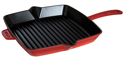 Staub 1202806 12x12-in American Square Grill, Cherry
