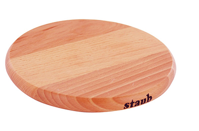 Staub 41190732 6-in Magnetic Wooden Trivet For Cast Iron & Stainless Pans