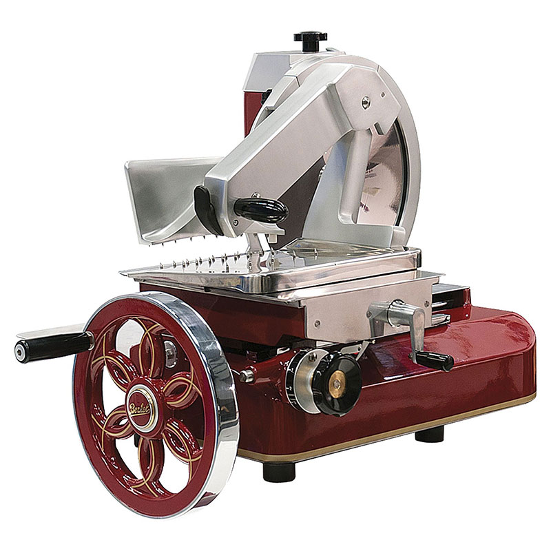 Berkel 330M Fly Wheel Slicer, 13 in Chromium-Plated Carbon Steel Knife, No Motor