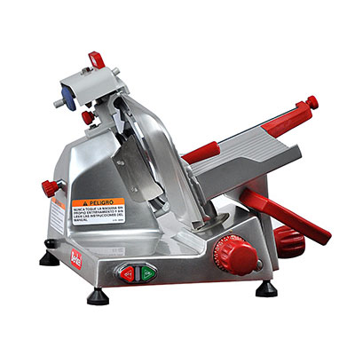 Berkel 823E-PLUS 9-in Round Manual Slicer w/ Angled Gravity Feed & Knife Guard, Sharpener