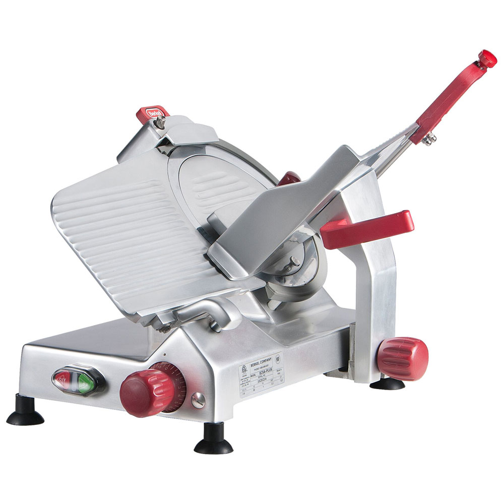 Berkel 825A-PLUS 10-in Round Manual Slicer w/ Angled Gravity Feed & Knife Guard, Sharpener