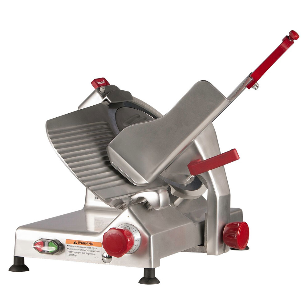 Berkel 827A-PLUS 12-in Round Manual Slicer w/ Angled Gravity Feed & Sharpener