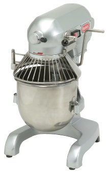 Berkel PM10 10 Qt Planetary Mixer w/ SS Bowl, Flat Beater, Whip, Hook, Safety Guard