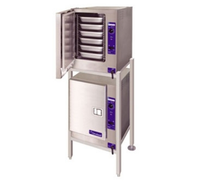 Cleveland (2)22CET6.1 2081 Double Stack Convection Steamer w/ Stand, (2) 6-Full Size Pans, 208/1 V