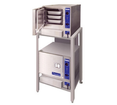 Cleveland (2)22CGT33.1 NG Double Stack Convection Steamer w/ Stand, 3-Full Size Pans, NG