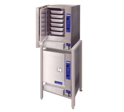 Cleveland (2)22CGT66.1 NG Double Stack Convection Steamer w/ Stand, 12-Full Size Pans Total, NG