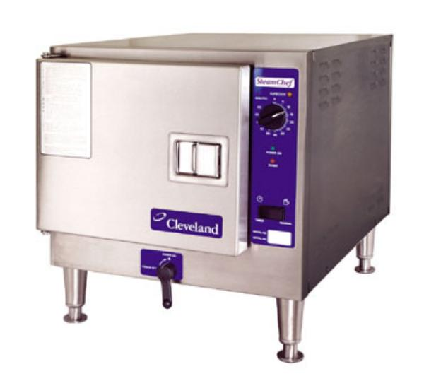 Cleveland 22CET3.12403 Countertop Convection Steamer For 3-Pans w/ Auto Drain & Water, 240/3