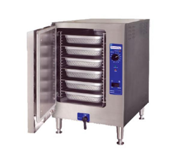 Cleveland 22CET6.12083 Countertop Convection Steamer For 6-Pans w/ Auto Drain & Water, 208/3