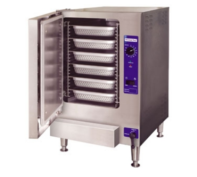 Cleveland 22CGT6.1 NG Single Boiler-Free Countertop Convection Steamer w/ 6-Pan Capacity, NG