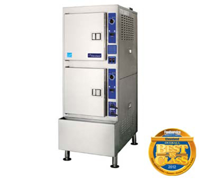 Cleveland 24CGA10.2ES NG 2-Compartment Pressureless Convection Steamer w/ 5-Pan Capacity, NG
