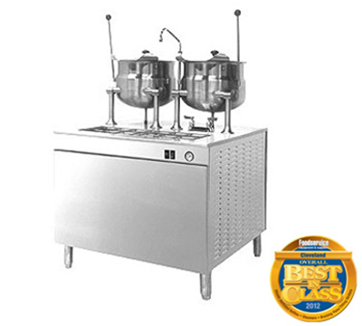 Cleveland 24DMK6 6-Gallon Direct Steam Kettle w/ 24-in Cabinet Base, Stainless