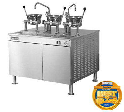 "Cleveland 36EMK1124 Kettle Cabinet Assembly w/ (2) 80-oz Oyster Kettles, 36"" Base, 208/1v"
