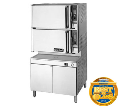 Cleveland 36CEM16484403 2-Compartment Convection Steamer w/ 8-Pan Capacity, 36-in Base, 440/3 V