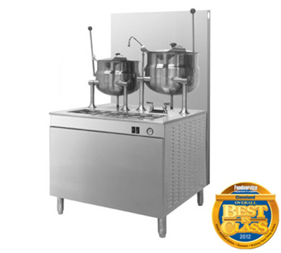 Cleveland 36GMK1010200 NG Kettle Cabinet Assembly w/ (2) 10-Gallon Kettles, 36-in Base, NG