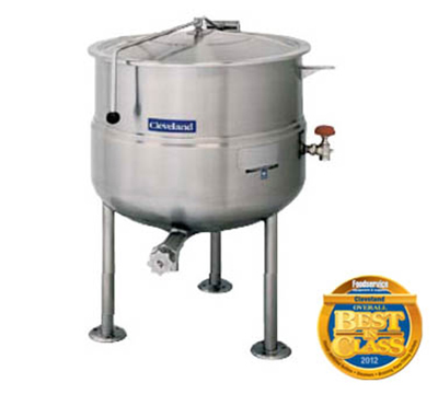 Cleveland KDL-125 125-Gallon Direct Steam Kettle w/ Open Tri-Leg Base, 35 PSI