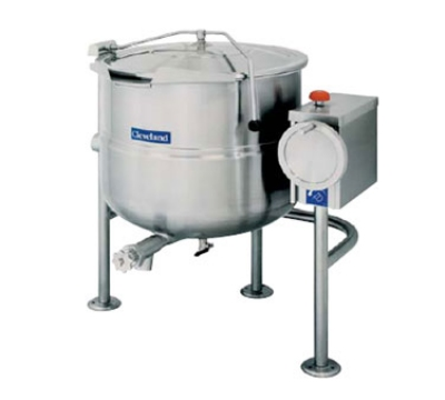 Cleveland KDL-25-T 25-Gallon Direct Steam Tilt Kettle w/ Open Tri-Leg Base, 2/3 Steam Jacket