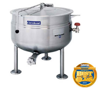 Cleveland KDL-60-SH 60-Gallon Short Direct Steam Kettle w/ Open Tri-Leg, Full Jacket