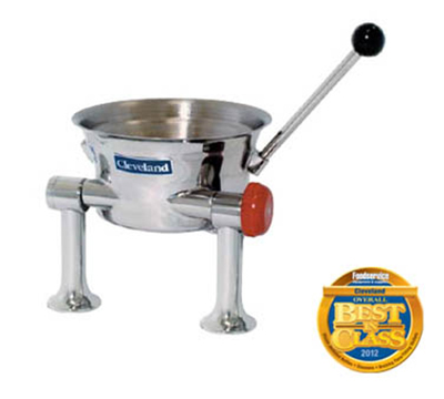 Cleveland KDT-1-T .5-Gallon Table Top Direct Steam Tilt Kettle w/ Right Valve & Handle