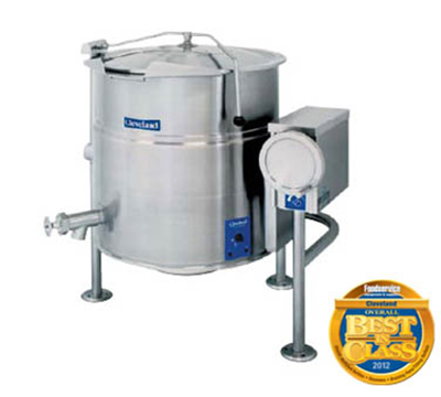 Cleveland KEL-100-T4153 100-Gallon Tilt Kettle w/ Open Tri-Leg Base, 2/3 Steam Jacket, 415/3 V