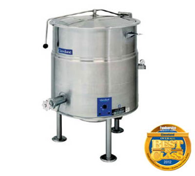 Cleveland KEL-1004153 100-Gallon Kettle w/ Open Tri-Leg Base, 2/