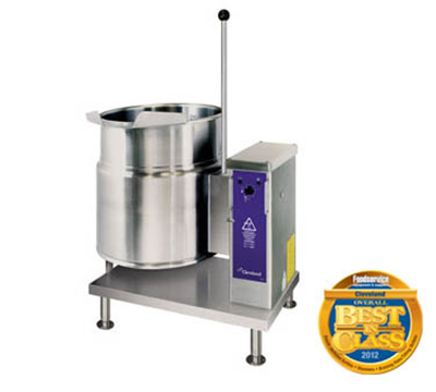 Cleveland KET-20-T 2083 20-Gallon Tilting Kettle w/ 50 PSI Rating, 2/3 Steam Jacket, 208/3 V