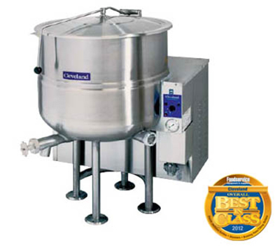 Cleveland KGL-100 NG 100-Gallon Stationary Kettle w/ Electr