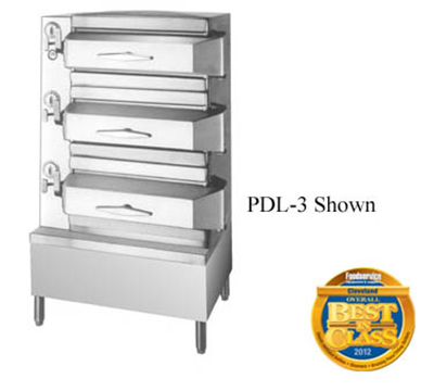 Cleveland PDL3 3-Compartment Pressure Steamer w/ 8-Pan Capacity Each, Mechanical, 120v