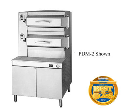"Cleveland PDM2 Direct Steam Pressure Steamer w/ (2) 8-Pan, 36"" Cabinet, 120v"