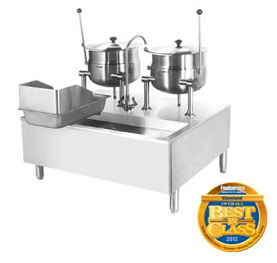 Cleveland SD1600K1212 Direct Steam Kettle Cabinet Assembly w/ (2) 12-Gal Ke
