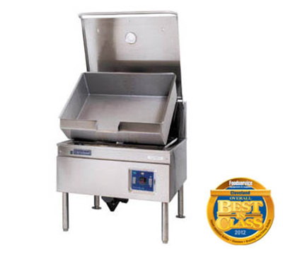 Cleveland SGM30TR NG 30-Gallon Tilt Skillet w/ Enclosed Cabinet Base, Adjustable Feet, NG
