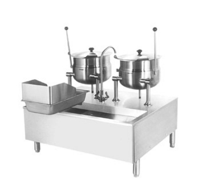 Cleveland SD1050K66 Direct Steam Kettle Cabinet Assembly w/ (2) 6-Gallon, Double Faucet