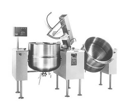 Cleveland TMKDL-60-T4403 Twin 60-Gal Tilt Kettle Mixer w/ Variable Speed, Open Leg, 440/480 V
