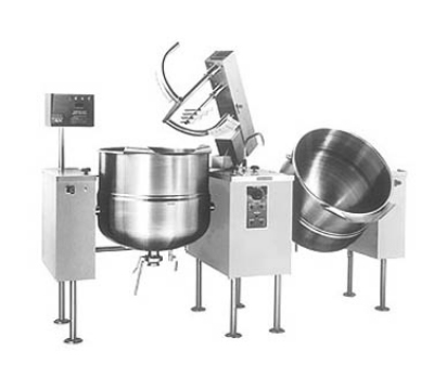 Cleveland TMKEL-100-T 2403 Twin 100-Gal Tilt Kettle Mixer w/ Variable Speed, Open Leg, 240/3 V