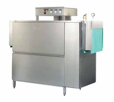 Meiko K64E460 Double Tank Conveyor Dishwasher For 277-Racks/Hr, 18-in Clearance, 460/3 V