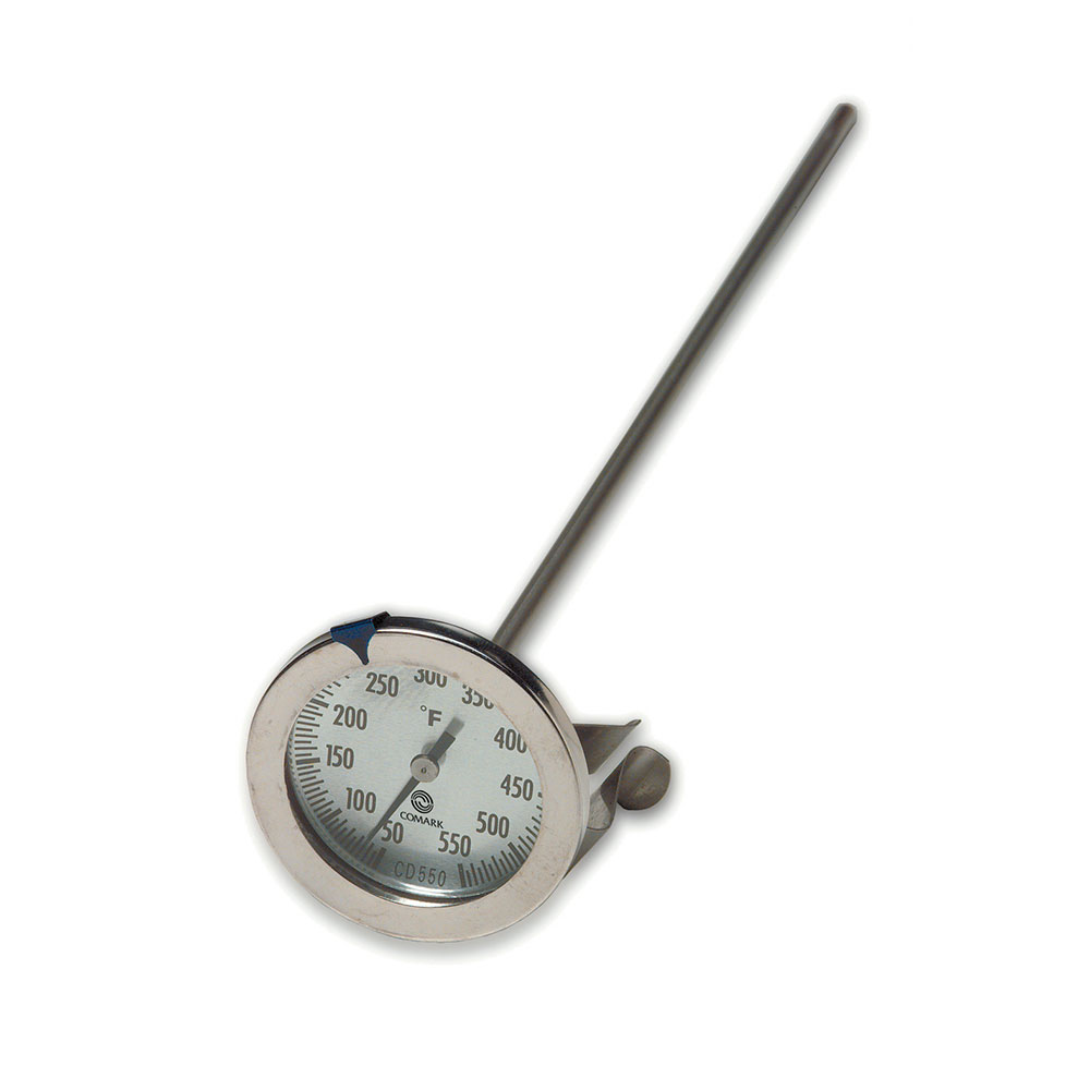 Comark CD550 Candy Deep Fry Thermometer, 2-1/4 in Dial, 12 in Stem, 50 to 550 F