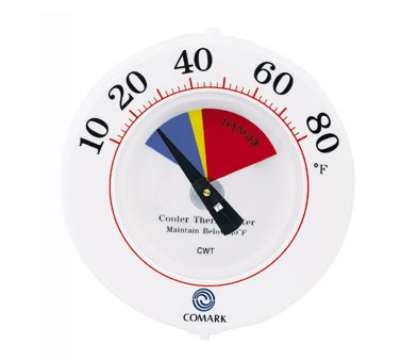 Comark CWT 6-in Cooler Wall Thermometer w/ Mounting Bracket