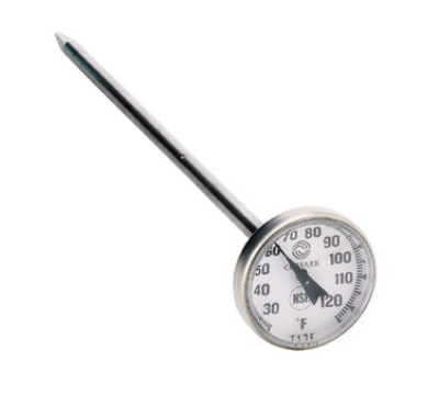 Comark T125 Pocket Thermometer w/ 1-in Dial & 5-in Stem, 25 To 125-Degrees F