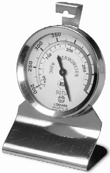 Comark DOT2AK Oven Thermometer, Dial, 200 - 550 F Range, SS, NSF