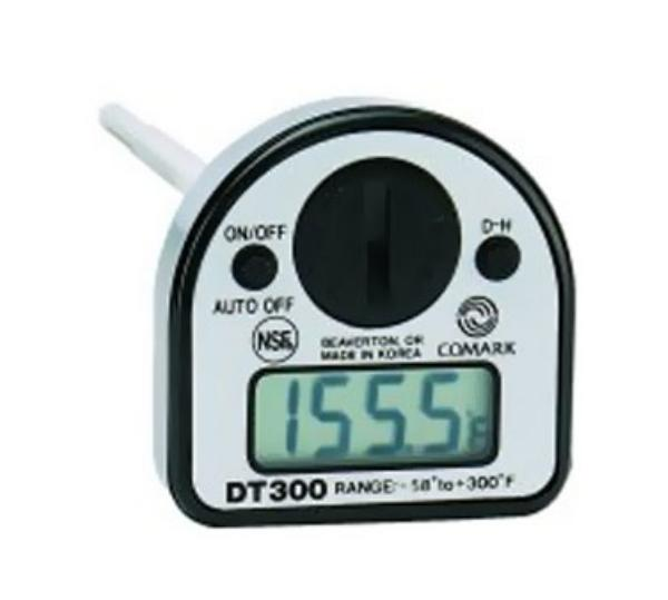 Comark DT300NSF Pocket Thermometer, Digital, Data Hold Button, -58 to 300 F