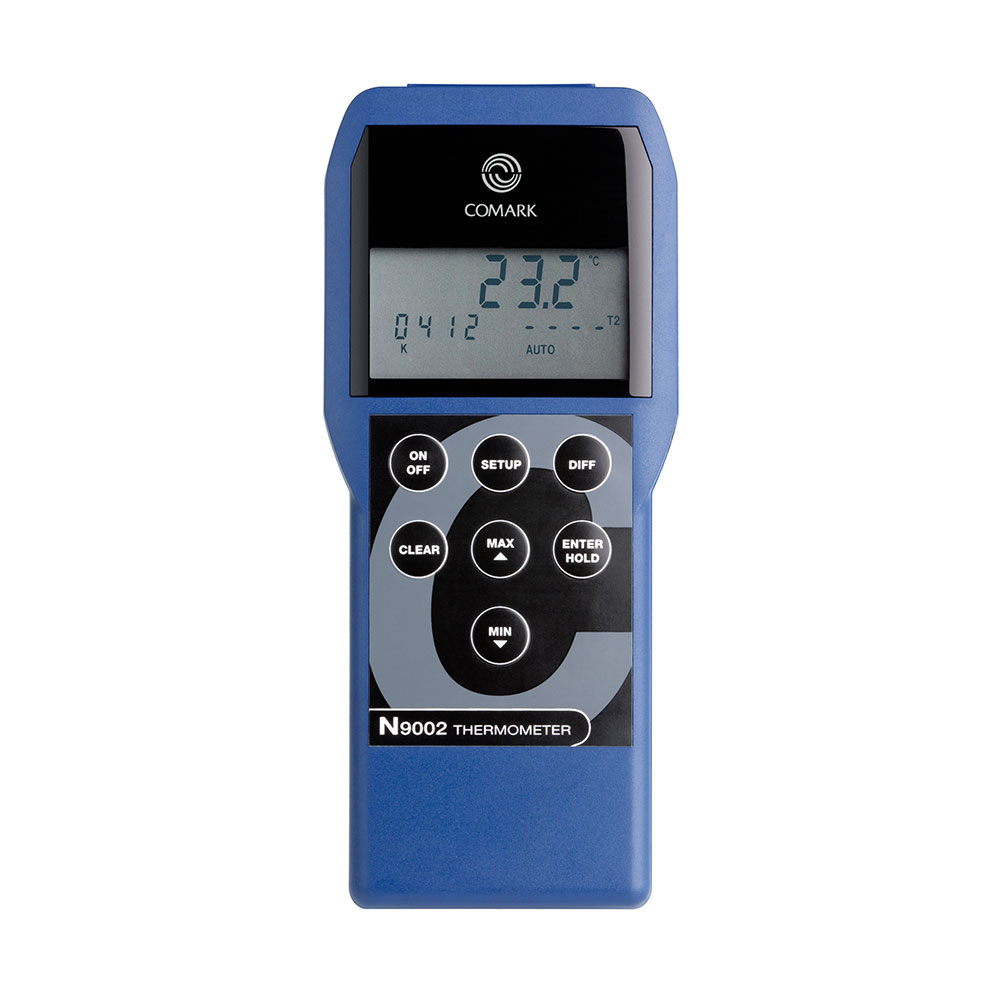 Comark N9002 Industrial Thermocouple Thermometer w/ Twin Input