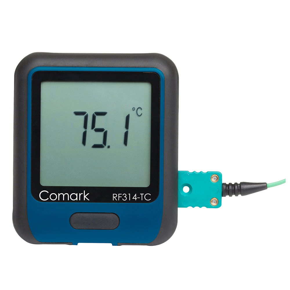 Comark RF314-TC Temperature Data Logger - K-Type Thermocouple Probe, -454 to 2372 F