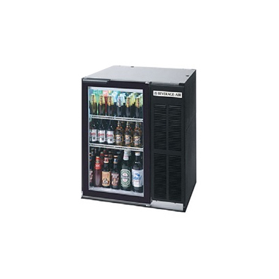 Beverage Air BB36G-1-B-27 36-in Refrigerated Backbar Storage Cabinet w/ Glass Door, Black/Stainless