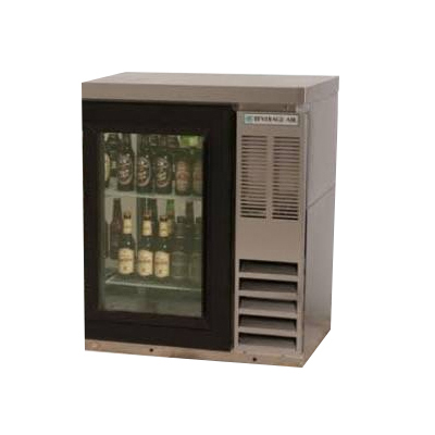 "Beverage Air BB36G-1-S-27 36"" Bar Refrigerator w/ (1) Section - (1) Glass Swinging Door, 115v"