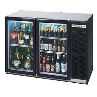 Beverage Air BB48GY-1-B-27 Backbar Storage Cabinet w/ 2-Glass Doors, (2)1/2-Keg, 48 x 36-in H, Black
