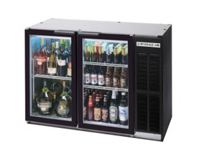 Beverage Air BB72GY-1-S-27-PT Refrigerated Backbar Pass Thru Storage Cabinet w/ 3-Sections & 6-Glass Doors, Stainless