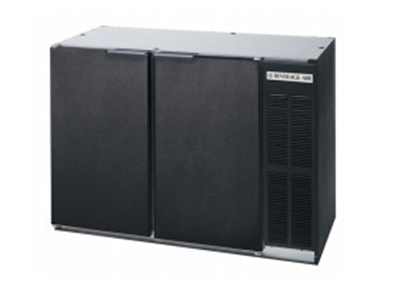 Beverage Air BB72Y-1-B-PT 72-in Refrigerated Pass Thru Backbar Storage Cabinet w/ 6-Solid Doors, 34-in H, Black/Galvanized