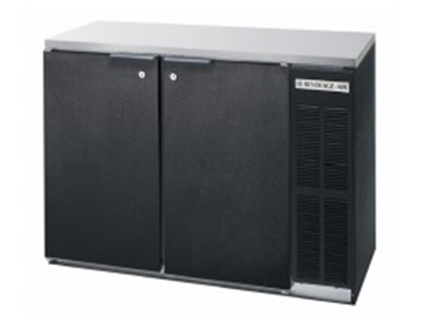 Beverage Air BB72YF-1-S-27-PT Refrigerated Open Backbar Pass Thru Storage Cabinet w/ 3-Section, 6-Solid Door, Stainless
