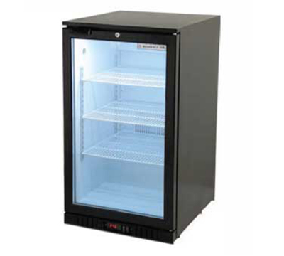 Beverage Air CT96-1-B 21.4-in Reach-In Display Refrigerator w/ 1-Glass Door, 6.8-cu ft, Black